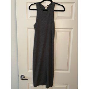 Charcoal Grey Midi Dress